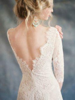 40 Deep V Open Back Wedding Dresses Ideas 21