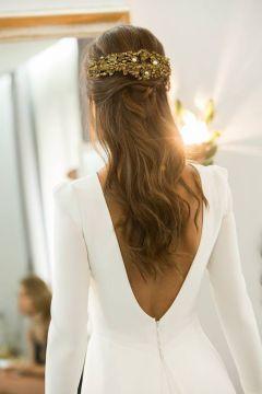 40 Deep V Open Back Wedding Dresses Ideas 25