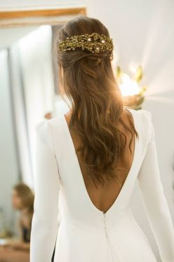 40 Deep V Open Back Wedding Dresses Ideas 25