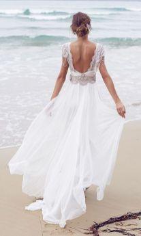 40 Deep V Open Back Wedding Dresses Ideas 26