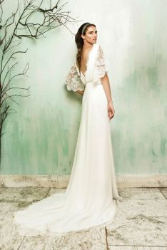 40 Deep V Open Back Wedding Dresses Ideas 28