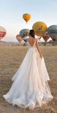 40 Deep V Open Back Wedding Dresses Ideas 3