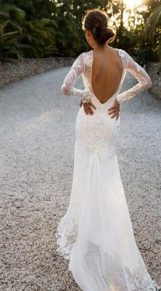 40 Deep V Open Back Wedding Dresses Ideas 31