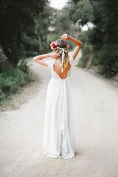 40 Deep V Open Back Wedding Dresses Ideas 33