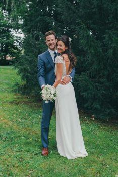 40 Deep V Open Back Wedding Dresses Ideas 34