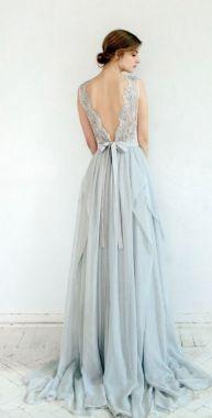 40 Deep V Open Back Wedding Dresses Ideas 42