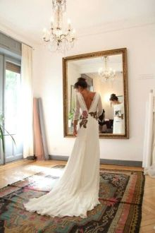 40 Deep V Open Back Wedding Dresses Ideas 43