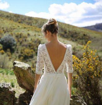 40 Deep V Open Back Wedding Dresses Ideas 44