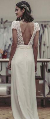40 Deep V Open Back Wedding Dresses Ideas 45