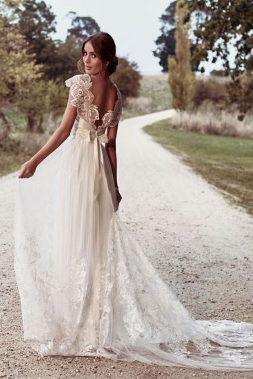 40 Deep V Open Back Wedding Dresses Ideas 46