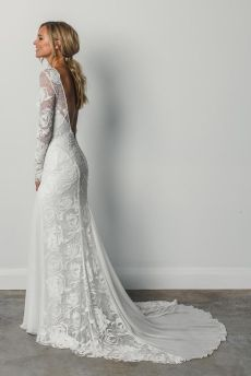 40 Deep V Open Back Wedding Dresses Ideas 48