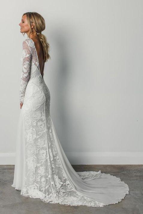 40 Deep V Open Back Wedding Dresses Ideas 48