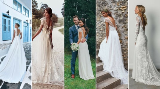 40 Deep V Open Back Wedding Dresses Ideas