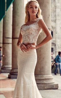 40 Einfache Crop Top Brautkleider Ideen 1