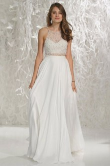 40 Einfache Crop Top Brautkleider Ideen 10
