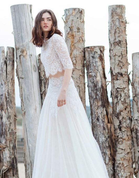 40 Einfache Crop Top Brautkleider Ideen 12