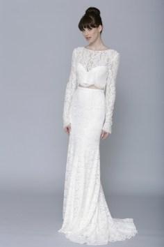 40 Einfache Crop Top Brautkleider Ideen 28