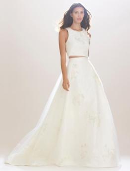 40 Einfache Crop Top Brautkleider Ideen 3