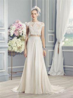 40 Einfache Crop Top Brautkleider Ideen 42