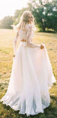 40 Einfache Crop Top Brautkleider Ideen 47