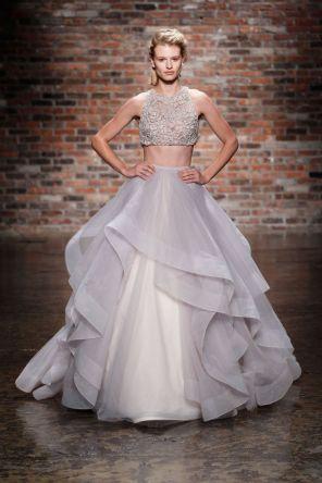 40 Einfache Crop Top Brautkleider Ideen 5