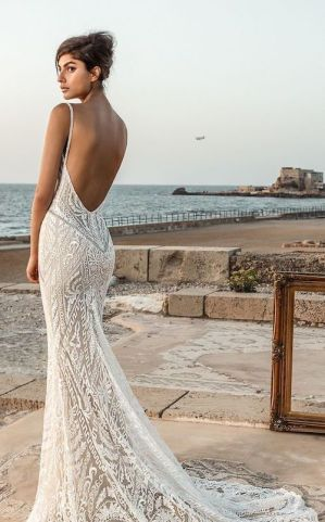 40 Fit and Flare With Long Train Wedding Dresses Ideas 20