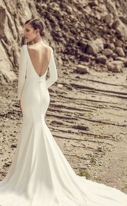40 Fit and Flare With Long Train Wedding Dresses Ideas 35