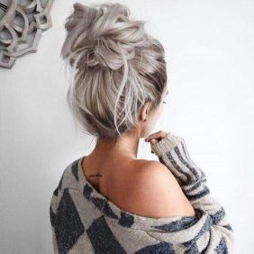 40 High Messy Bun Hairstyles Ideas 1