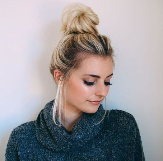40 High Messy Bun Hairstyles Ideas 36