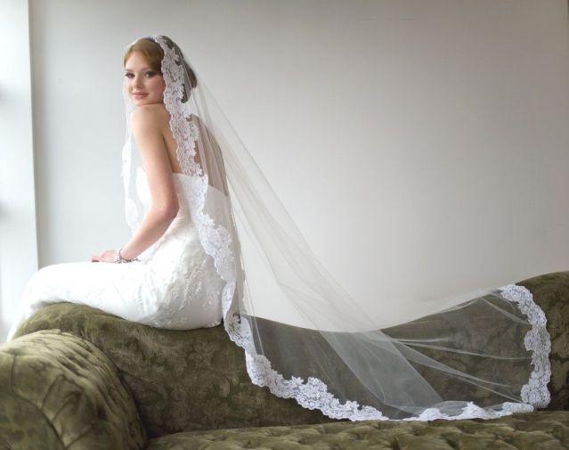 40 Long Viels Wedding Dresses Ideas 12