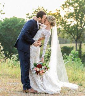 40 Long Viels Wedding Dresses Ideas 24
