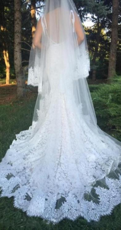 40 Long Viels Wedding Dresses Ideas 46