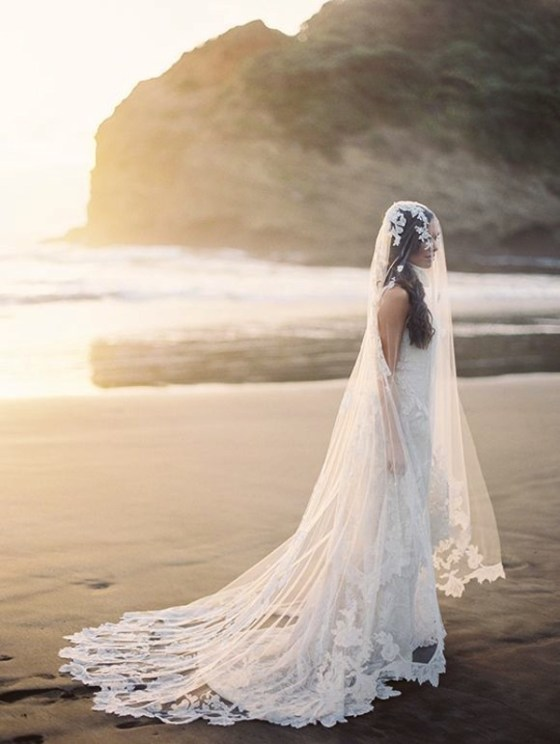 40 Long Viels Wedding Dresses Ideas 47