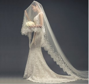 40 Long Viels Wedding Dresses Ideas 8