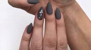 40 Simple Grey Nail Art Ideas 14 2
