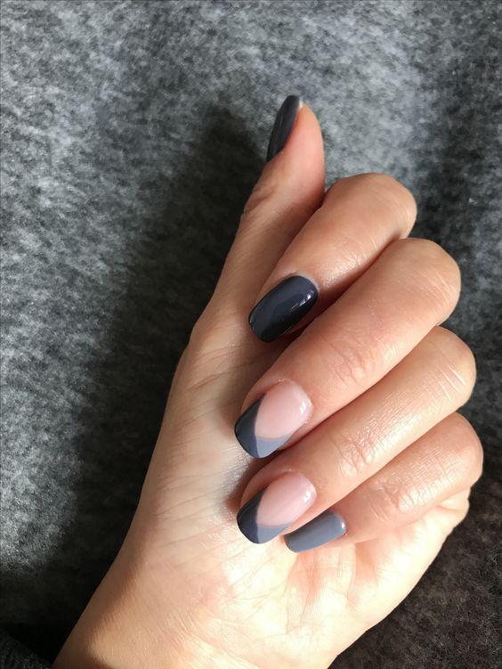 40 Simple Grey Nail Art Ideas 2 2