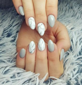 40 Simple Grey Nail Art Ideas 20 2
