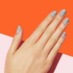 40 Simple Grey Nail Art Ideas 3 2
