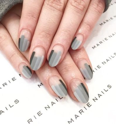 40 Simple Grey Nail Art Ideas 5 2