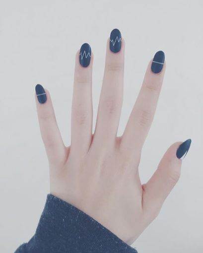 40 Simple Grey Nail Art Ideas 9 2