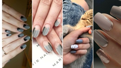 40 Simple Grey Nail Art Ideas