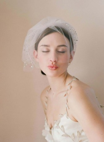 50 Blusher Veils and Bridcage for Brides Ideas 13