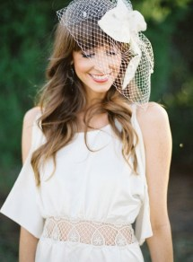 50 Blusher Veils and Bridcage for Brides Ideas 23