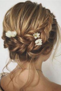 50 Braids Short Hair Wedding Hairstyles Ideas 5