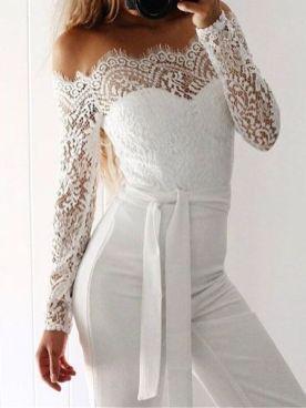 50 Bridal Jumpsuits Look Ideas 41