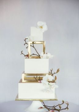 50 Gold Wedding Cakes Ideas 28