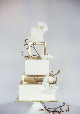 50 Gold Wedding Cakes Ideas 28