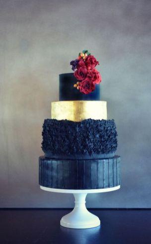 50 Gold Wedding Cakes Ideas 31