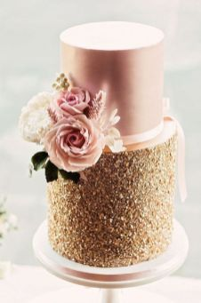 50 Gold Wedding Cakes Ideas 36