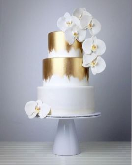 50 Gold Wedding Cakes Ideas 49